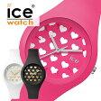 【5年保証対象】アイスウォッチ 腕時計[ ICEWATCH 時計 ]アイス ウォッチ 時計[ ICE WATCH 腕時計 ]アイス 腕時計 ラブ ハート スモール love BLACK HEART Small レディース[シリコン ベルト/ラバー ベルト/防水/サマーウォッチ/ペア/ペアウォッチ/ギフト][送料無料]