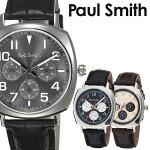 ポールスミス腕時計[PaulSmith時計]ポールスミス時計[PaulSmith腕時計]アトミックATOMICメンズ/グレーP10045[革ベルト/クロノグラフ/ブラック/シルバー][プレゼント/ギフト][送料無料]