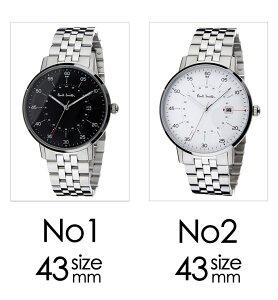ポールスミス時計[paulsmith腕時計]ポールスミス腕時計[paulsmith時計]ゲージGAUGEメンズ/ホワイトP10074[メタルベルト/シンプル/トレンド/ブランド/人気/ギフト/プレゼント/シルバー/ビジネス/シンプル][送料無料]