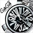 ガガミラノ [ GaGaMILANO ] ガガミラノ 腕時計 [ GaGaMILANO 腕時計 ] ガガ ミラノ[ GaGa MILANO ]ガガミラノ時計[ GaGaMILANO時計 ]ガガ腕時計[ GaGa腕時計 ]スリム 46MM アッチャイオ[SLIM 46MM ACCIAIO]/メンズ/レディース/5080.2[新作/レア/革ベルト][送料無料]