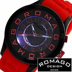腕時計, 男女兼用腕時計  ROMAGO ROMAGO ROMAGODESIGN ROMAGO DESIGN ROMAGO ATTRACTION SERIES RM015-0162PL-BKRD