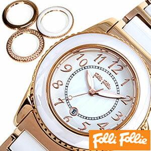 【今月の特価商品】フォリフォリ腕時計[選べる6種類!]FolliFollie時計フォリフォリFolliFollieフォリフォリ時計フォリフォリ腕時計レディース[レアピンクゴールド激安セラミックブランドジルコニアストーンダイヤクリスタル黒白おしゃれ高級]