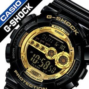 カシオGショック腕時計[CASIOGSHOCK時計CASIOGSHOCK腕時計カシオGショック時計]ブラック×ゴールドシリーズ[Black×GoldSeries]/メンズ時計/GD-100GB-1送料無料【楽ギフ_包装】