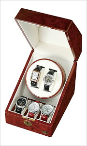 ワインディングマシーン[WindingMachine]木製2連ワインディングマシーン腕時計用ワインダーケース[自動巻き上げ機・機械式]LU-20001RD[ディスプレイウォッチケース時計ケース腕時計ケース]送料無料【楽ギフ_包装】
