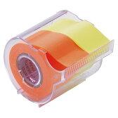 ヤマト メモック ロールテープ カッター付 25mm幅 レモン&オレンジ NORK−25CH−6C 1個