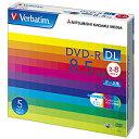 バーベイタムデータ用DVD−RDL8.5GB2−8倍速ホワイトワイドプリンタブル5mmスリムケースDHR85HP5V11パック(5枚)