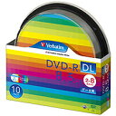 バーベイタムデータ用DVD−RDL8.5GB2−8倍速ホワイトワイドプリンタブルスピンドルケースDHR85HP10SV11パック(10枚)