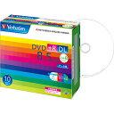 バーベイタムデータ用DVD+RDL8.5GB8倍速ワイドプリンタブル5mmスリムケースDTR85HP10V11パック(10枚)