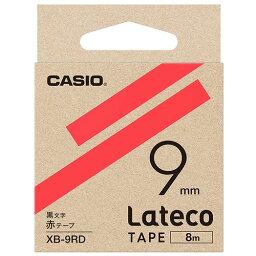 【お取寄せ品】 カシオ ラテコ 詰替用テープ 9mm×8m 赤/黒文字 XB−9RD 1個