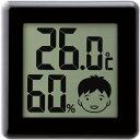 ドリテック デジタル温湿度計 ピッコラ ブラック O−282BK 1個...