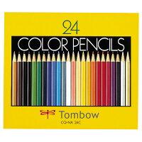 トンボ鉛筆色鉛筆紙箱24色(各色1本)CQ−NA24C1箱