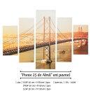 """Ponte25deAbril""ArtPanelアートパネル4月25日リスボン橋ウォールデコ壁掛けインテリアディスプレイリビングウォールアートおしゃれアートフレーム[送料無料][AA-0006]pachakagu"