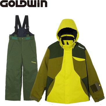 GOLDWIN ゴールドウィン JR. BARO JACKET&TELLUS PANTS 〔特価 ジュニアスキーウェア 2018 上下セット〕 (ライムグリーン):GJ11701P-GJ31700P