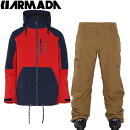 ������������15-16����ޥ�ARMADA���CARSONINSULATEDJACKET+UNIONPANT���顼��Red+Brown[pd��_snowwear]10P19Dec15