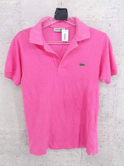 ◇ CHEMISE LACOSTE 鹿の子 半袖 ポロシャツ 2 ピンク * ◆ 1000279623602 【中古】