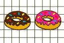 ワッペン ドーナツ お菓子 最大横幅3.3cm前後 《刺繍ワッペン アイロンワッペン アップリケ 食べ物ワッペン》