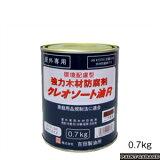 吉田製油所クレオソートR 0.7kgこげ茶色