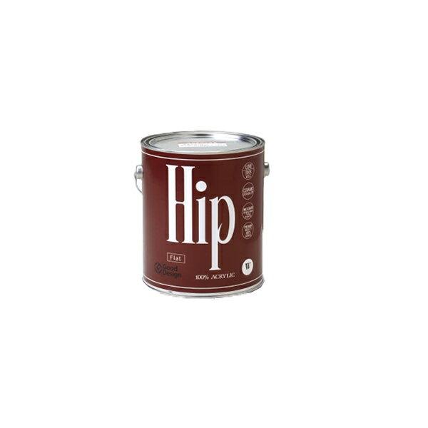 【 送料無料 】Hip フラット(つや消し) 3.8L 色ランクW ヒップ COLORWORKS カラーワークス 屋内用水性ペンキ 水性塗料 低VOC・臭いが少なく高品質・抗菌作用・耐久性! DIY 室内 ペンキ