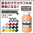 EFチョークボードペイント プラス 200g 6色チョーク6本セット付(ペンキ/黒板塗料/壁紙/水性/塗料販売)