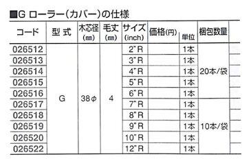 """好川産業株式会社 G ローラー(カバー) 6"""" R 1本【好川産業株式会社】"""