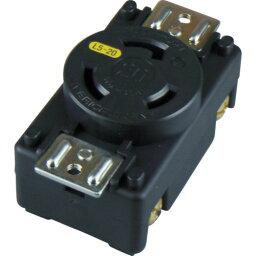 アメリカン電機 引掛形 パネル用コンセント 接地2P 20A 125V(3210PL5)