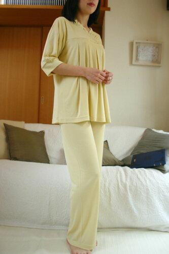 シルクパジャマの夏用パジャマ♪素肌にさらりシルクニット プルオーバーパジ...