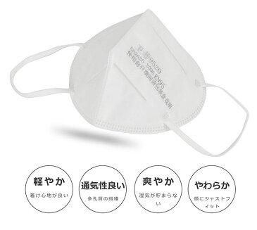 マスク 3D立体縫製 PM2.5対応 フェイスマスク 防塵 0.1μm微粒子防止 耳かけ式 10個セット