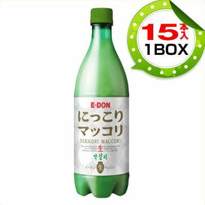 『二東』 にっこり 生マッコリ (1BOX=750mlX15本・PET)E-DON ...