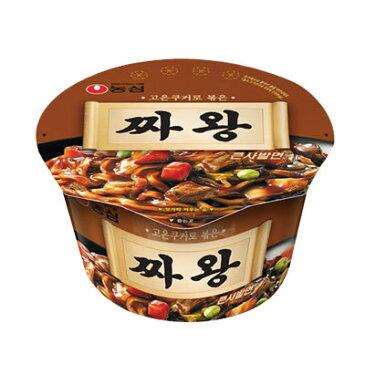 『農心』チャ王(チャワン)カップ麺(105g) チャジャンカップラーメン 韓国ラーメン インスタントラーメン チャジャン麺 ジャジャン麺 ラーメン\3mmのプリプリした太麺のチャジャン麺/ マラソン ポイントアップ祭
