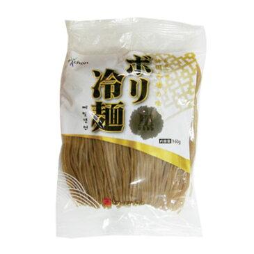 『ボリ村』ボリ冷麺|黒麺(160g) 冷麺 韓国麺 韓国料理 韓国食材 韓国食品\そば粉を使った、ちょっと黒っぽい麺が特徴の生冷麺/マラソン ポイントアップ祭