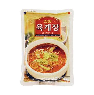 『眞漢』ユッケジャン(600g・辛さ2) ジンハン レトルト 韓国スープ 韓国鍋 韓国料理 チゲ鍋 韓国食品 オススメ\辛いもの好きな人にはたまらないスープ/マラソン ポイントアップ祭 スーパーセール