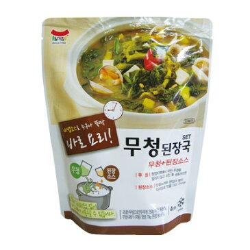 『イルガ』ムチョンデンジャンクック 大根葉 味噌スープ(320g) レトルト 鍋料理 チゲ鍋 韓国スープ 韓国鍋 マラソン ポイントアップ祭