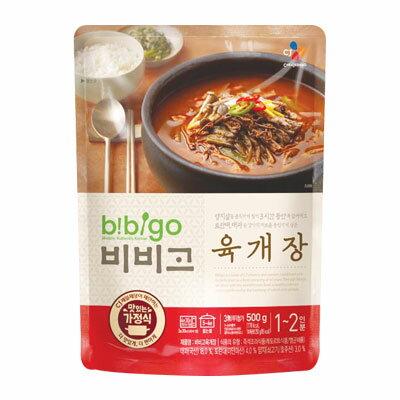 『CJ』bibigo韓飯ユッケジャン(500g・辛さ2) ビビゴ レトルト 韓国スープ 韓国鍋 チゲ鍋 韓国料理 韓国食材 韓国食品マラソン ポイントアップ祭 スーパーセール