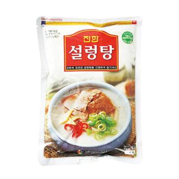 『眞漢』ソルロンタン(570g・辛さ0) ジンハン レトルト 韓国スープ 韓国鍋 韓国料理 チゲ鍋 韓国食品\ゲンコツと牛肉をじっくり煮込んだスープ/マラソン ポイントアップ祭