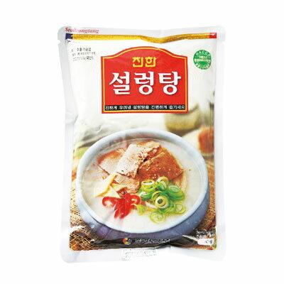 『眞漢』ソルロンタン(570g・辛さ0) ジンハン レトルト 韓国スープ 韓国鍋 韓国料理 チゲ鍋 韓国食品マラソン ポイントアップ祭