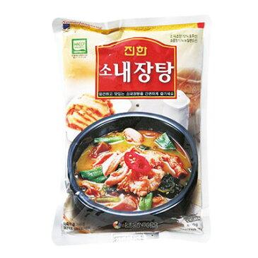 『眞漢』牛ネジャンタン(600g・辛さ2) ジンハン レトルト 韓国スープ 韓国鍋 韓国料理 チゲ鍋 韓国食品\高たんぱくの栄養スープ、ぴり辛でコクのある味/マラソン ポイントアップ祭