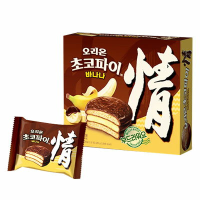 『ORION』チョコパイバナナ(444g・12個入) オリオン バナナ おやつ 韓国お菓子 韓国食品 マラソン ポイントアップ祭 05P01Oct16