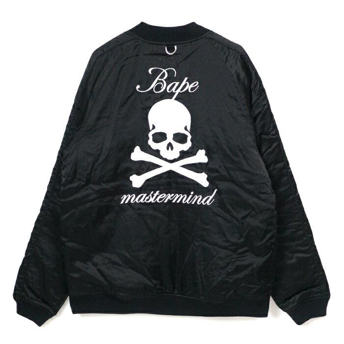メンズファッション, コート・ジャケット A BATHING APE mastermind JAPAN MMJ SOUVENIR JACKET Black BAPE 001LJE231913X2018SS
