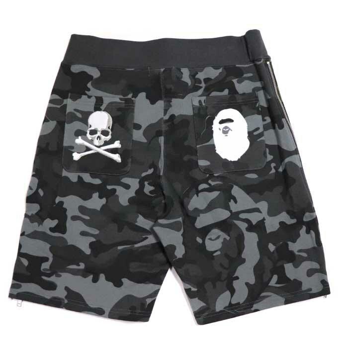 メンズファッション, ズボン・パンツ A BATHING APE mastermind JAPAN MMJ SWEAT SHORT Black Khaki BAPE 001SPE231911X2018SS
