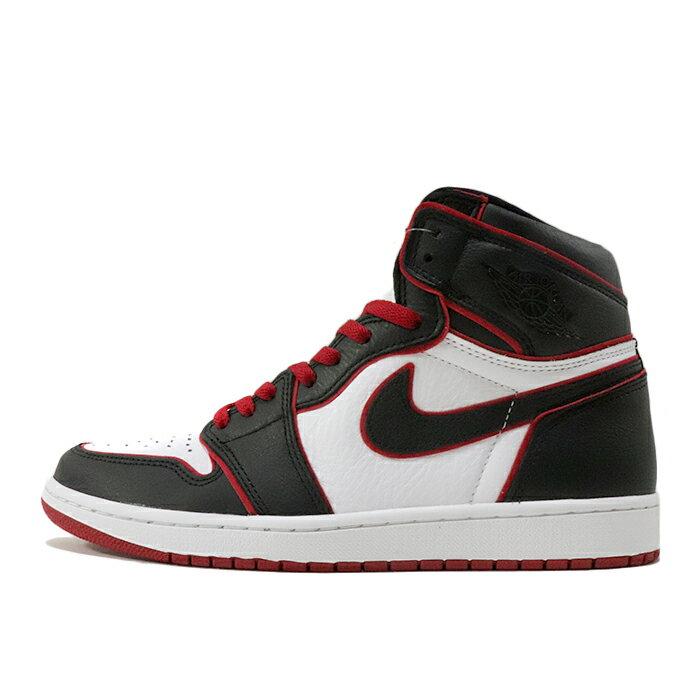 メンズ靴, スニーカー 2019 NIKE AIR JORDAN 1 RETRO HIGH OG BLOODLINE 1 BLACKGYM RED-WHITE555088-062