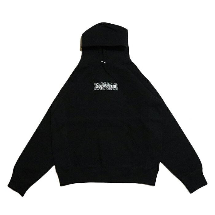 トップス, パーカー Supreme Bandana Box Logo Hooded Sweatshirt Black 2019AW
