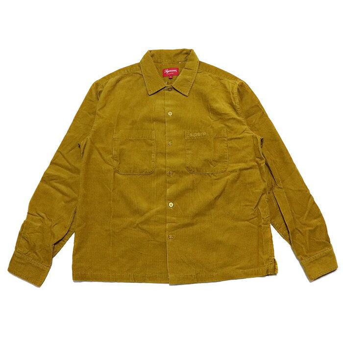 トップス, カジュアルシャツ Supreme Corduroy Shirt Gold 2019AW