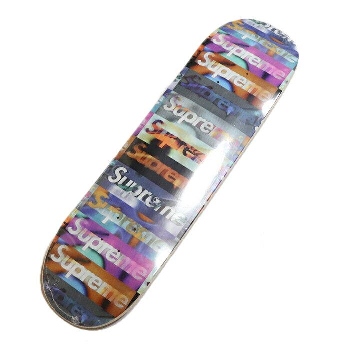 スケートボード, スケートボード本体 Supreme Distorted Logo Skateboard Black 2020SS