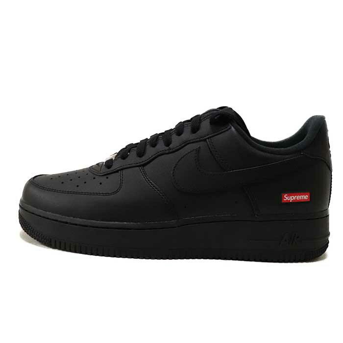 メンズ靴, スニーカー Supreme x NIKE 20ss AIR FORCE 1 LOW Black CU9225-0012020SS AF1