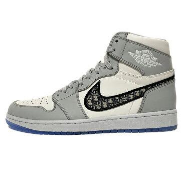 2020 Dior × Nike / ディオール ナイキAIR JORDAN 1 High OG /エアジョーダン 1 ハイ オージーBeige White / ベイジ ホワイト 白【CN8607-002】国内正規品 新古品【中古】