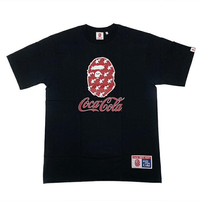 トップス, Tシャツ・カットソー A BATHING APE BAPE x COCA-COLA COCA COLA TEE TBLACK 2020SS