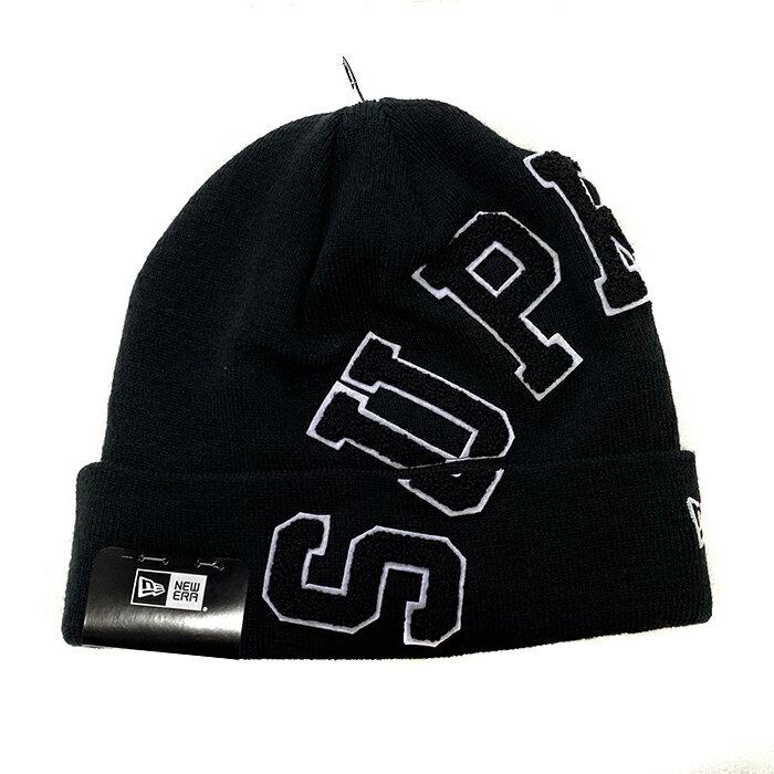 メンズ帽子, ニット帽 SUPREME x NEW ERA Big Arc Beanie BLACK 2020AW