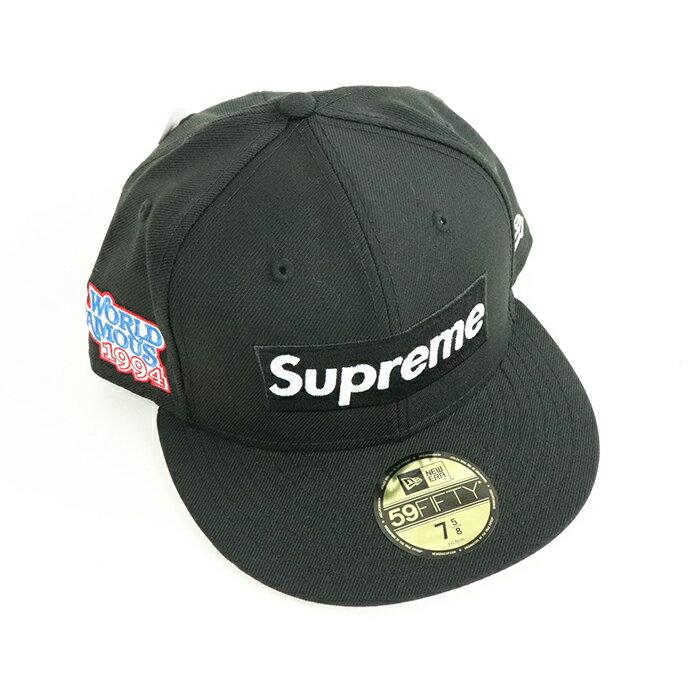 メンズ帽子, キャップ Supreme World Famous Box Logo New Era Black 2020FW