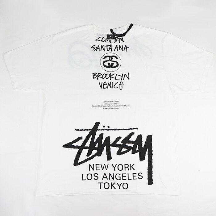 サンダル, スポーツサンダル STUSSY TAKAHIRO MIYASHITA WORLD TOUR TEE T WHITE 2020