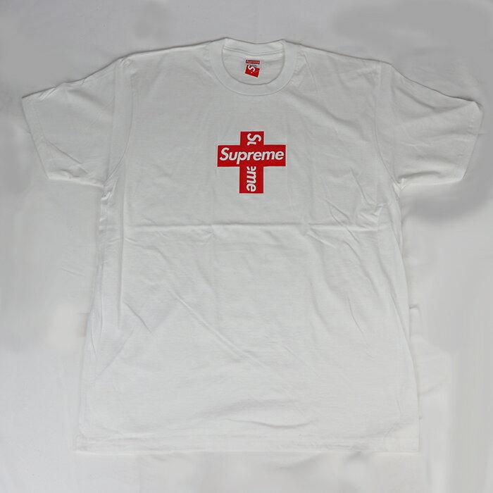 トップス, パーカー Supreme Cross Box Logo Tee TWhite 2020FW